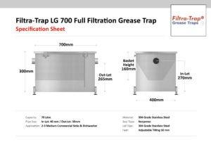 LG 700 – Filtra-Trap® 70 Litre Grease Trap