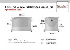 LG 1250 – Filtra-Trap® 250 Litre Grease Trap