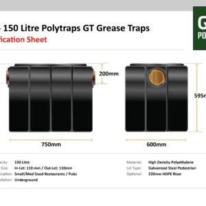 Polytraps GT Underground GT1 150 Litre Grease Trap