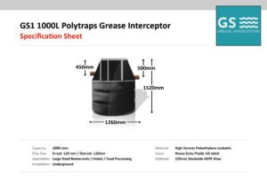 Polytraps GS1 1000L Grease Interceptor