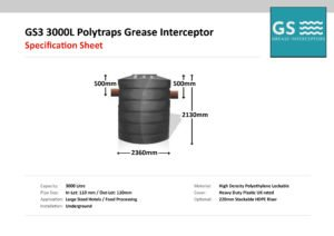Polytraps GS3 3000L Grease Interceptor