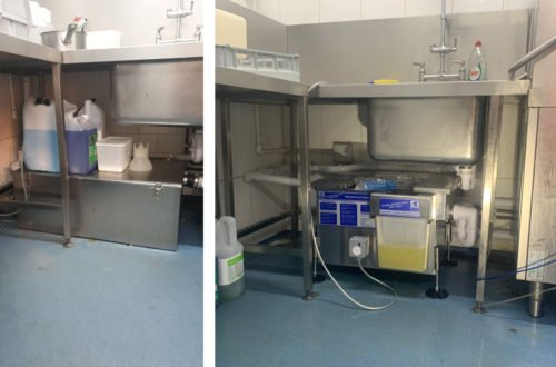 Before & After Passive Grease Trap Replacement