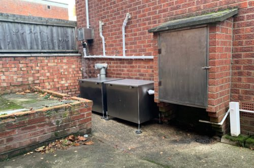 External Passive Twin grease Traps Chinese Restaurant