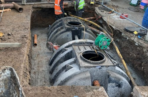 Installing 12,000 Litre Underground Grease Interceptors